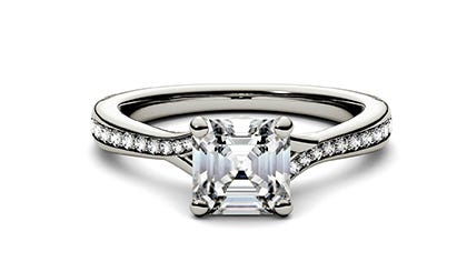 Moissanite Engagement Rings with Side Stones | Charles & Colvard