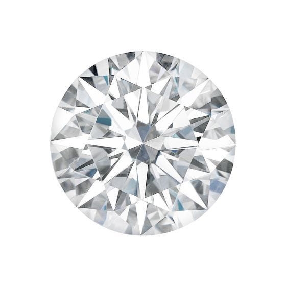 5.61 CTW DEW Round Forever One Moissanite Hearts & Arrows Gemstone