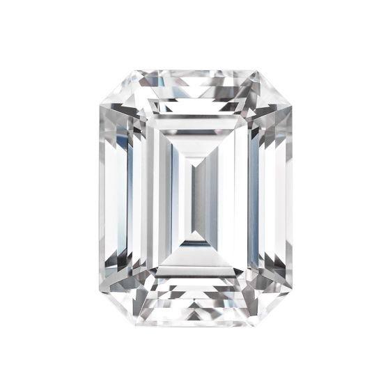 1.75 CTW DEW Emerald Forever One Moissanite Forever One Emerald Moissanite Gemstone