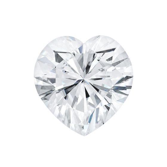 0.50 CTW DEW Heart Forever One Moissanite Heart Shape Gemstone