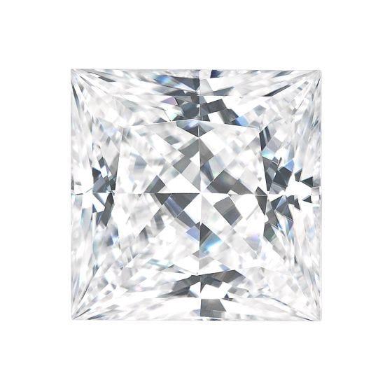 1.91 CTW DEW Square Forever One Moissanite Forever One Princess Moissanite Gemstone