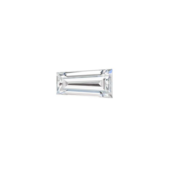0.17 CTW DEW Tapered Baguette Forever One Moissanite Forever One Tapered Step Cut Baguette Moissanite Gemstone