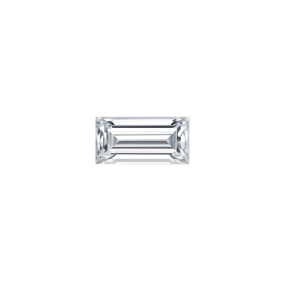 0.23 CTW DEW Straight Baguette Forever One Moissanite Forever One Step Cut Baguette Moissanite Gemstone