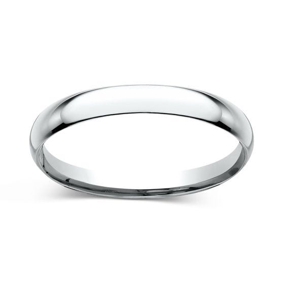 Comfort-Fit 2.0mm Ring 14K White Gold