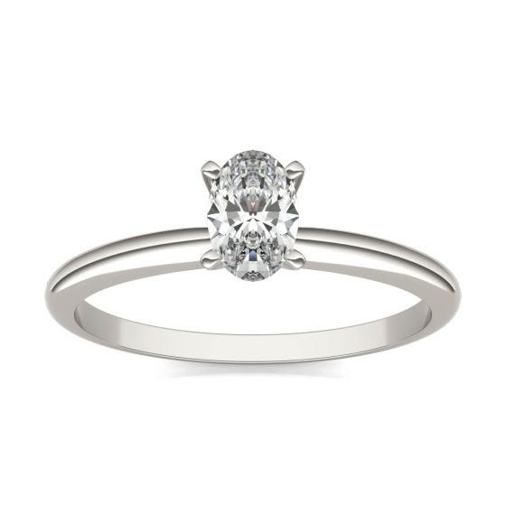 1/2 CTW Oval Caydia Lab Grown Diamond Solitaire Engagement Ring Platinum