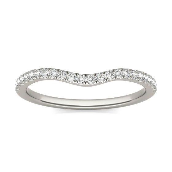 1/6 CTW Round Caydia Lab Grown Diamond Infinity Loop Matching Band Ring 14K White Gold