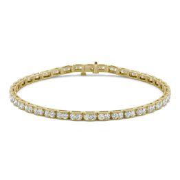 1.71 CTW DEW Round Forever One Moissanite Tennis Bracelet 14K Yellow Gold