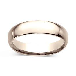 Comfort-Fit 5.0mm Ring 14K Rose Gold