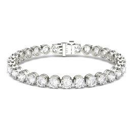 15.00 CTW DEW Round Forever One Moissanite Modern Tennis Bracelet 14K White Gold