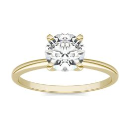 1.00 CTW DEW Round Forever One Moissanite Solitaire Engagement Ring 14K Yellow Gold