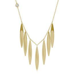 Large Fringe Necklace 14K Yellow Gold