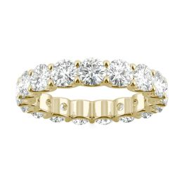 4.14 CTW DEW Round Forever One Moissanite Eternity Band 14K Yellow Gold
