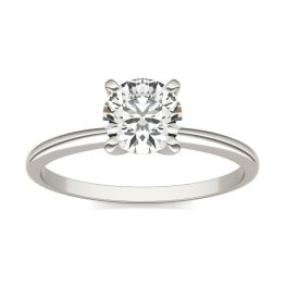 3/4 CTW Round Caydia Lab Grown Diamond Solitaire Engagement Ring 14K White Gold, SIZE 7.0 Stone Color E