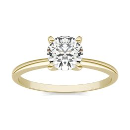 3/4 CTW Round Caydia Lab Grown Diamond Solitaire Engagement Ring 18K Yellow Gold, SIZE 7.0 Stone Color E