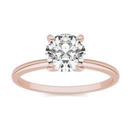 1 CTW Round Caydia Lab Grown Diamond Solitaire Engagement Ring 14K Rose Gold, SIZE 7.0 Stone Color E