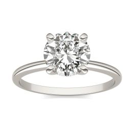 1 1/2 CTW Round Caydia Lab Grown Diamond Solitaire Engagement Ring 18K White Gold, SIZE 7.0 Stone Color E
