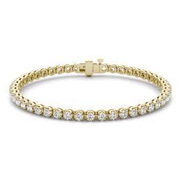 2 7/8 CTW Round Caydia Lab Grown Diamond Four Prong Tennis Bracelet 14K Yellow Gold