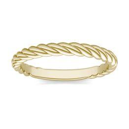 Twist Band Ring 18K Yellow Gold
