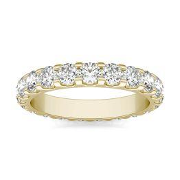 2 1/3 CTW Round Caydia Lab Grown Diamond Eternity Band Ring 14K Yellow Gold