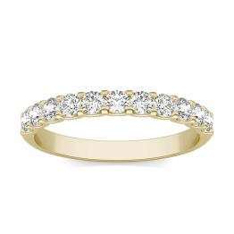 1/2 CTW Round Caydia Lab Grown Diamond Classic Wedding Band Ring 18K Yellow Gold, SIZE 7.0 Stone Color F