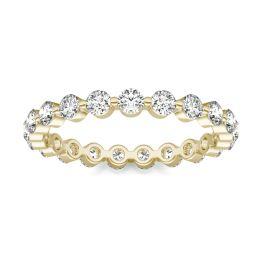 1 CTW Round Caydia Lab Grown Diamond Single Prong Eternity Band Ring 18K Yellow Gold