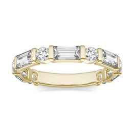 1.62 CTW DEW Round Forever One Moissanite Ring 14K Yellow Gold