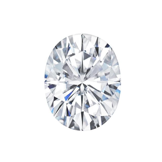 Forever One 3.00CTW Oval Near-Colorless Moissanite Gemstone