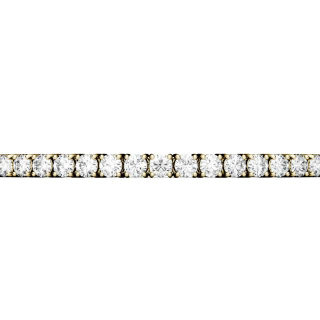 5.40 CTW Round Forever One Moissanite Four Prong Tennis Bracelet in 14K Yellow Gold