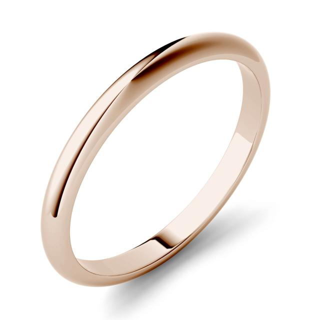Domed Stackable Band in 14K Rose Gold