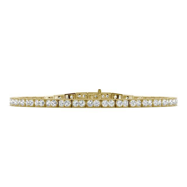 1.71 CTW Round Forever One Moissanite Tennis Bracelet in 14K Yellow Gold
