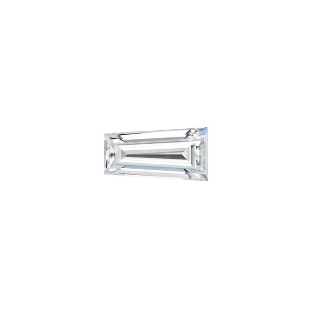 Forever One 0.17CTW Tapered Step Cut Baguette Near-Colorless Moissanite Gemstone