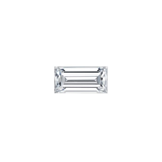 Forever One 0.23CTW Step Cut Baguette Colorless Moissanite Gemstone