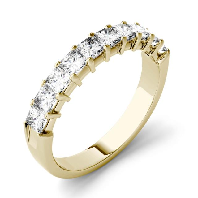 Forever One 1.80CTW Square Moissanite Shared Prong Anniversary Band in 14K Yellow Gold