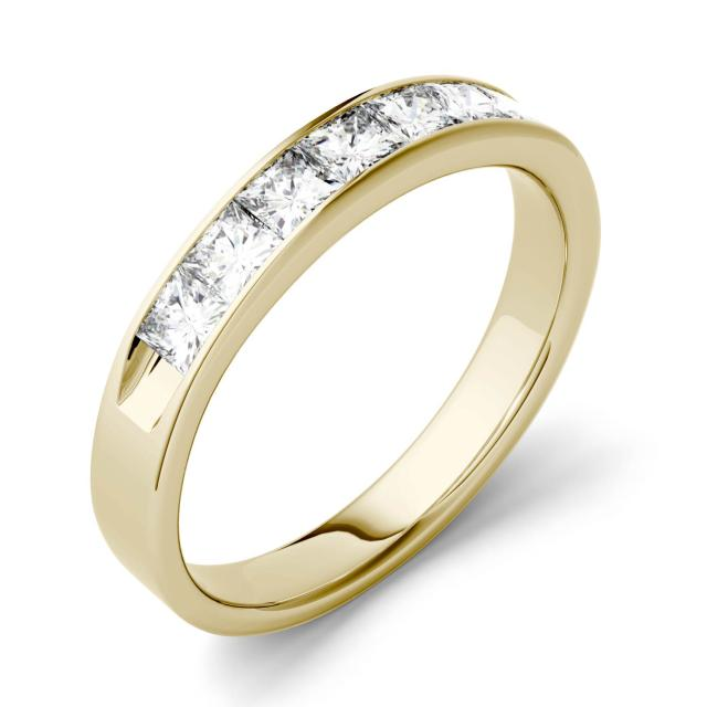 Forever One 1.26CTW Square Moissanite Channel Set Anniversary Band in 14K Yellow Gold