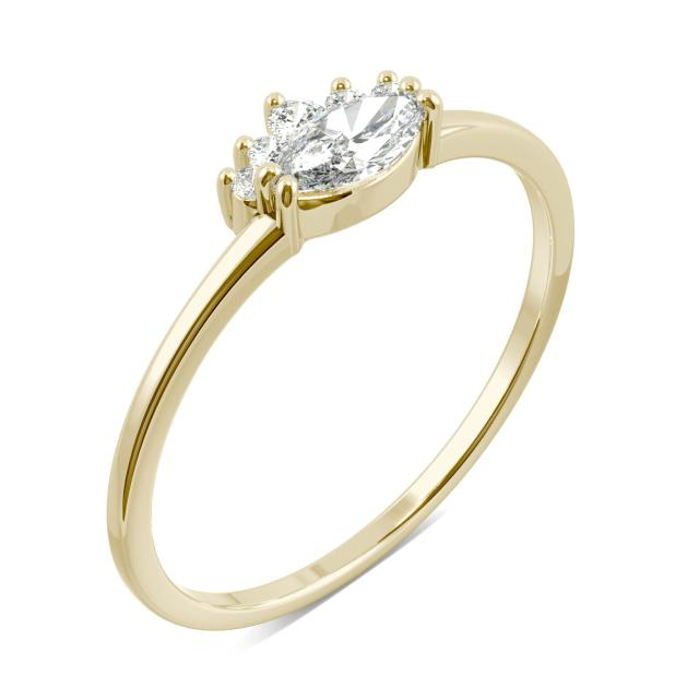 Royal Marquise Moissanite Ring in 14K Yellow Gold