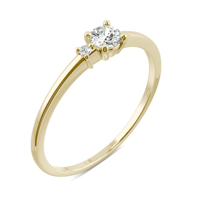 Petite Double Round Stackable Ring in 14K Yellow Gold