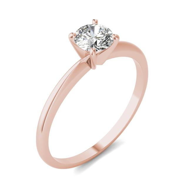 1/2 CTW Round Caydia Lab Grown Diamond Solitaire Engagement Ring 14K Rose Gold