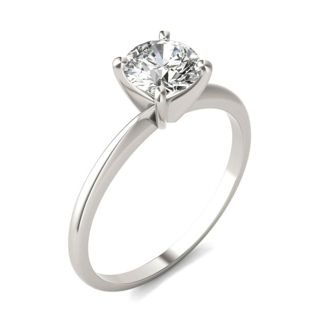 3/4 CTW Round Caydia Lab Grown Diamond Solitaire Engagement Ring 18K White Gold