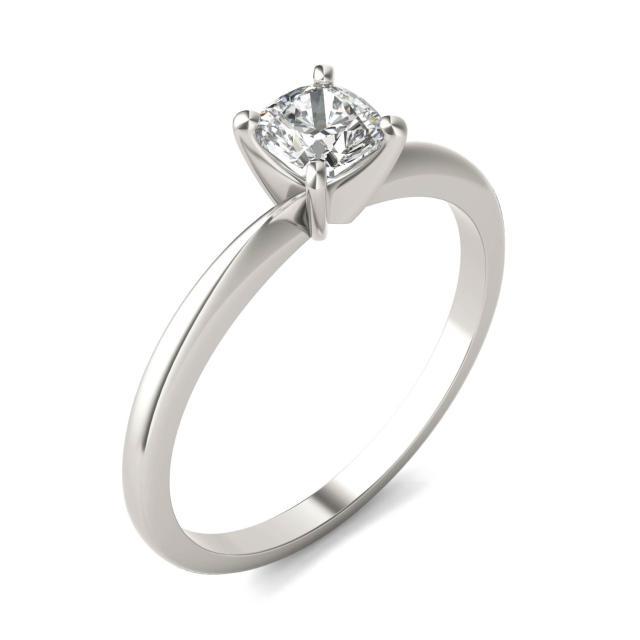 1/2 CTW Cushion Caydia Lab Grown Diamond Solitaire Engagement Ring Platinum