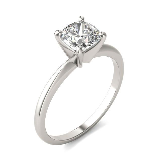 1 CTW Cushion Caydia Lab Grown Diamond Solitaire Engagement Ring Platinum