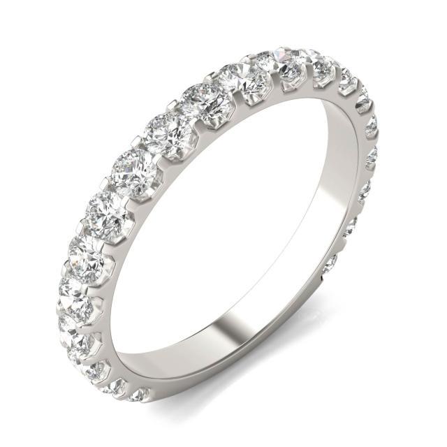 1 CTW Round Caydia Lab Grown Diamond Shared Prong Anniversary Band 18K White Gold