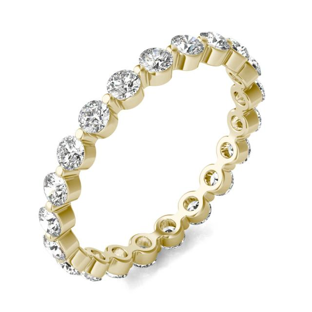 1 CTW Round Caydia Lab Grown Diamond Single Prong Eternity Band 14K Yellow Gold