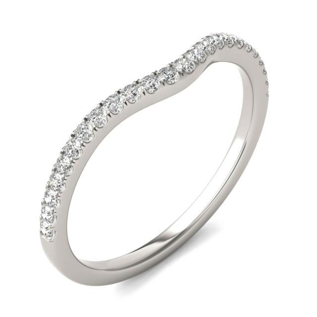 1/6 CTW Round Caydia Lab Grown Diamond Infinity Loop Matching Band 14K White Gold