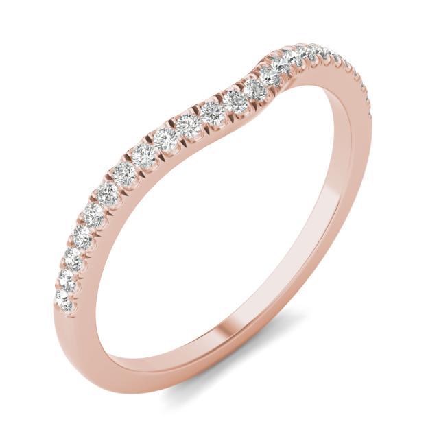 1/6 CTW Round Caydia Lab Grown Diamond Infinity Loop Matching Band 14K Rose Gold