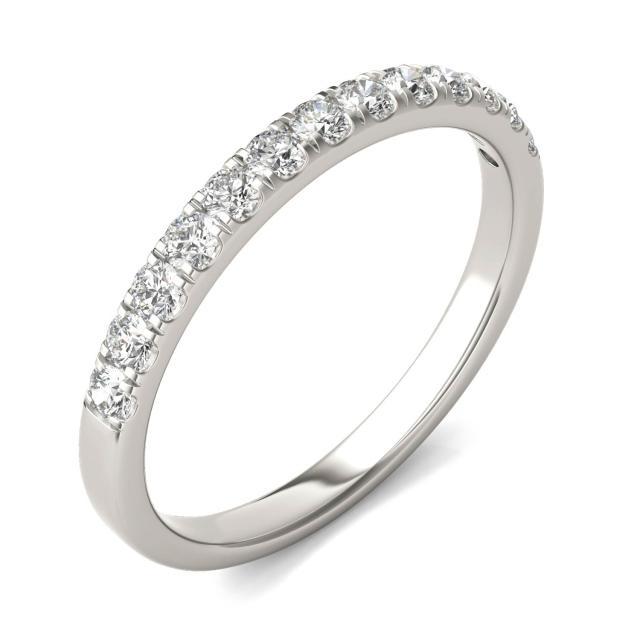 0.29 CTW Round Forever One Moissanite Ring 14K White Gold