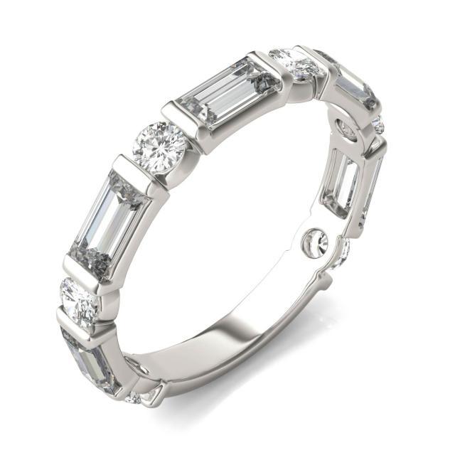 1.62 CTW Round Forever One Moissanite Ring 14K White Gold
