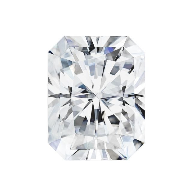 Forever One 2.70CTW Radiant Colorless Moissanite Gemstone