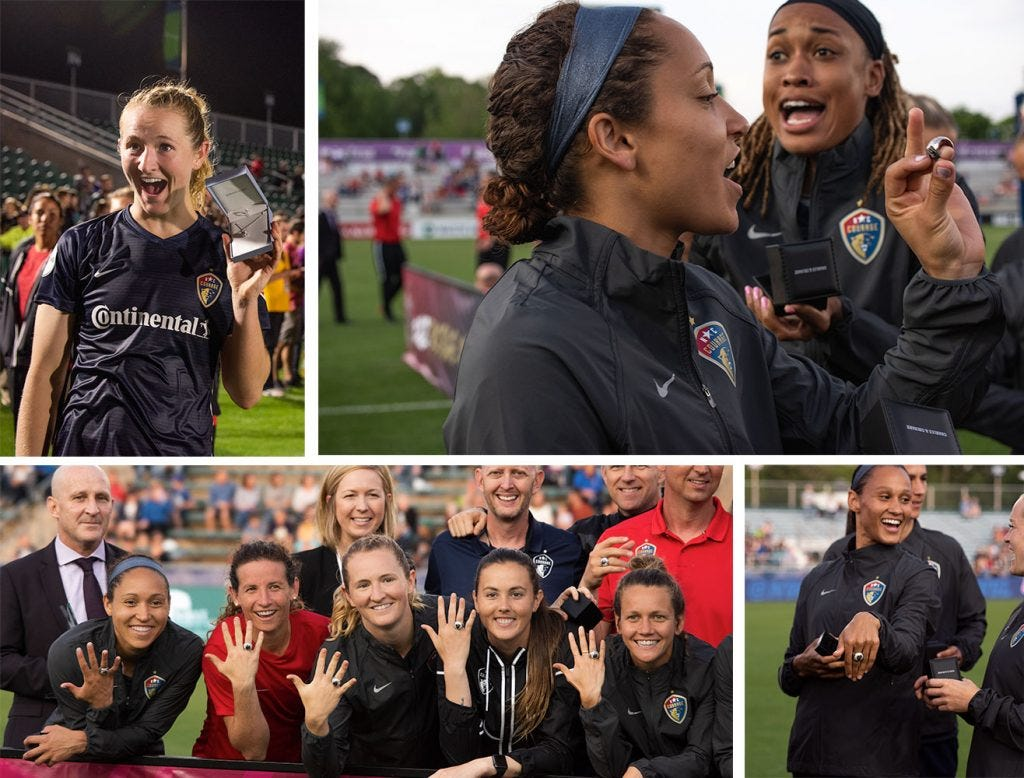 Congrats to the NC Courage - Back to Back NWSL Champions!