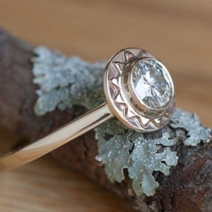 10 etsy alternative engagement rings youll love - Alternative Wedding Rings