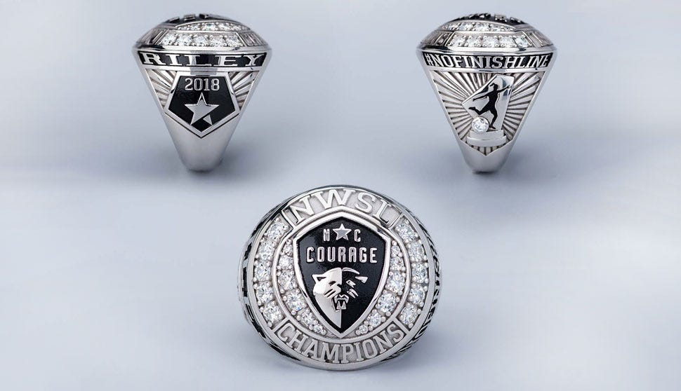 NC Courage 2018 Championship Rings